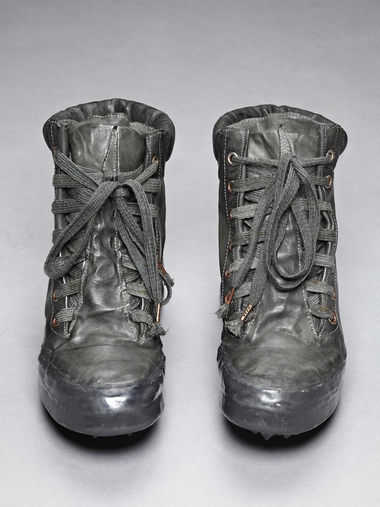 CCP Kangaroo Leather Drip Rubber U-Sole Sneaker Grey