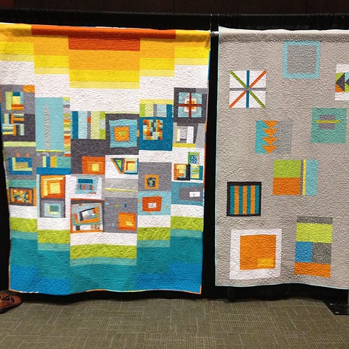 So many stunning charity quilts for #quiltcon ... The #dcmodern ladies did an excellent job (quilt on the left)