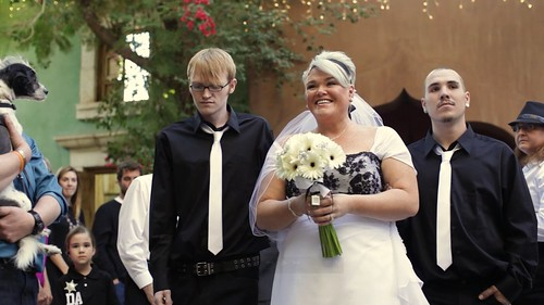 Jodi's sons walked her down the aisle