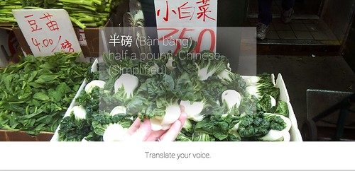 Google Glass for Buying Vegetables in Chinese