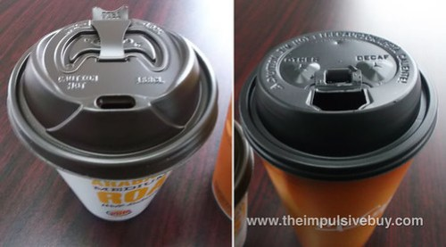 Burger King Smooth Roast Coffee McDonald's Coffee Lids
