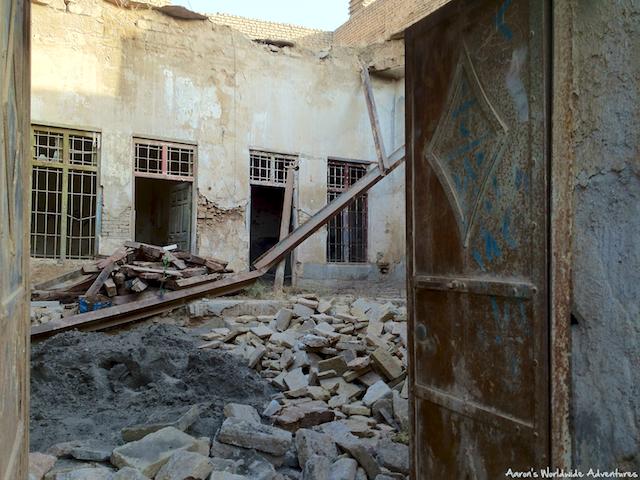 Construction at Erbil Citadel