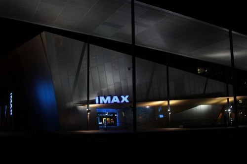 Exterior of IMAX theatre at Melbourne Museum
