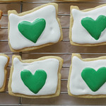 I Heart Oregon Sticker Sugar Cookies