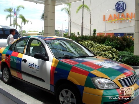 Colorful Park Inn Hotel Taxi Service Vehicle