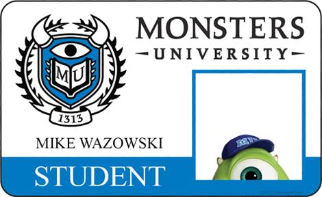 Monster University - Mike Wazowski ID