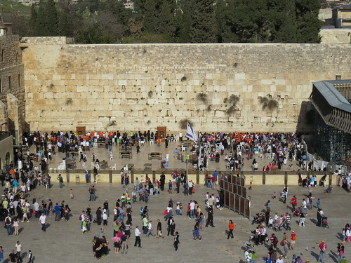 View of the Western Wall from above