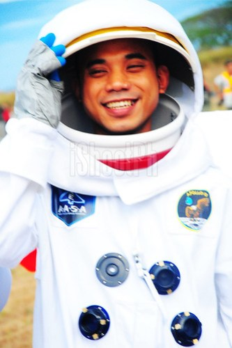 Resley George Amador as Axe Philippines' heroic astronaut of 2013 HABF.