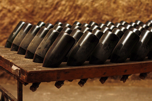 Champagne riddling rack (old)