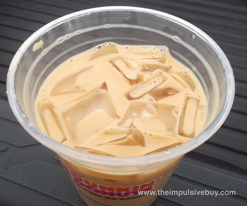 Dunkin' Donuts Old Fashioned Butter Pecan Iced Coffee Topsies