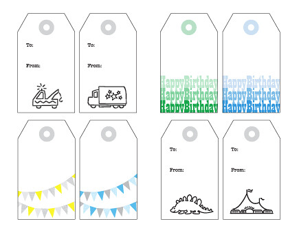 Free printable gift tags for boys free printable happy birthday party gift tags for boys download pdf negle Images