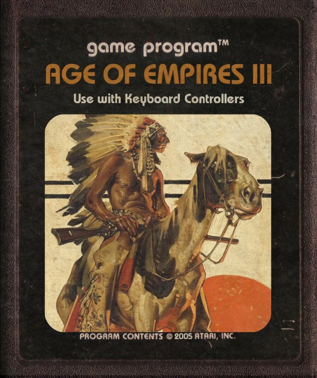 Age Of Empires III Atari Cartridge