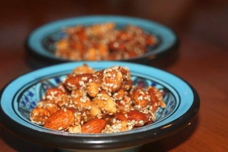 Honey Sesame Ginger Roasted Cashews and Almonds