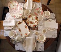 Table setting rehearsal for afternoon tea | Flickr - Photo ...