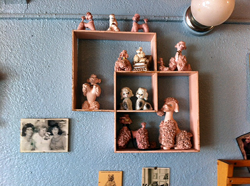 Poodles on the wall