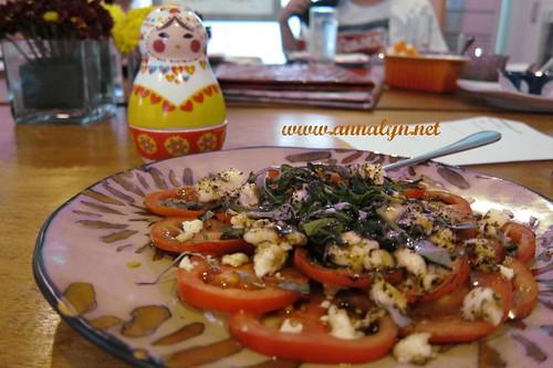 caprese salad at Atelier 317