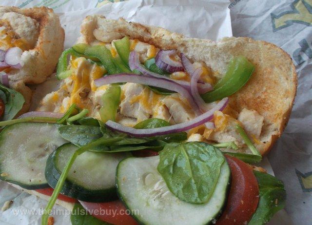 Subway Monterey Chicken Melt wGrilled Chicken