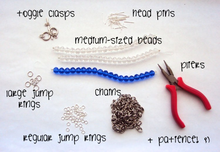 DIY Bauble Statement Necklace ‖ 1 supplies