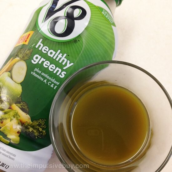 V8 Veggie Blend Healthy Greens Closeup