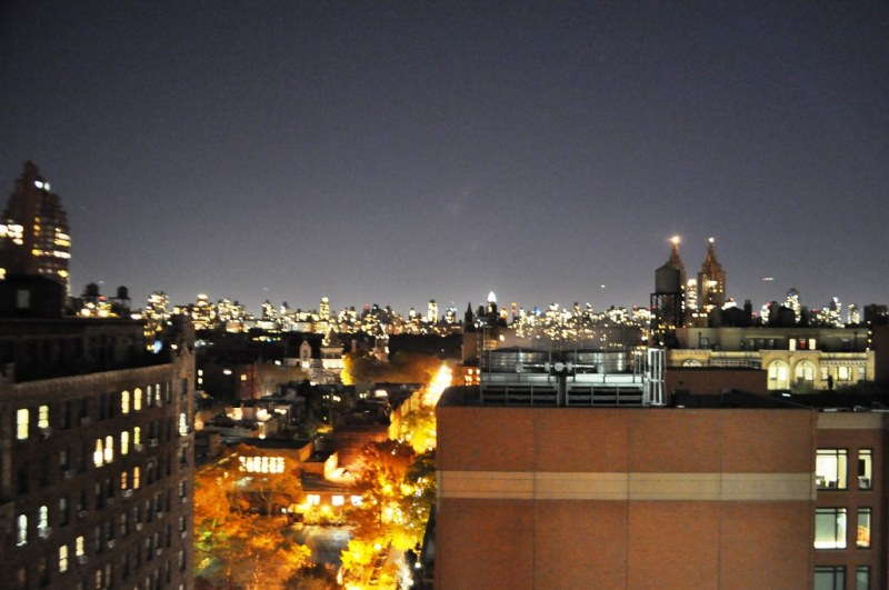 Night View of City from My New York Hotel Room - the NYLO