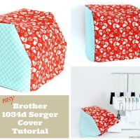 Simple Brother 1034d Serger Cover Sewing Tutorial