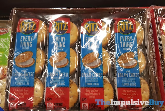 Ritz Everything Crackers with Cream Cheese Flavored Filling