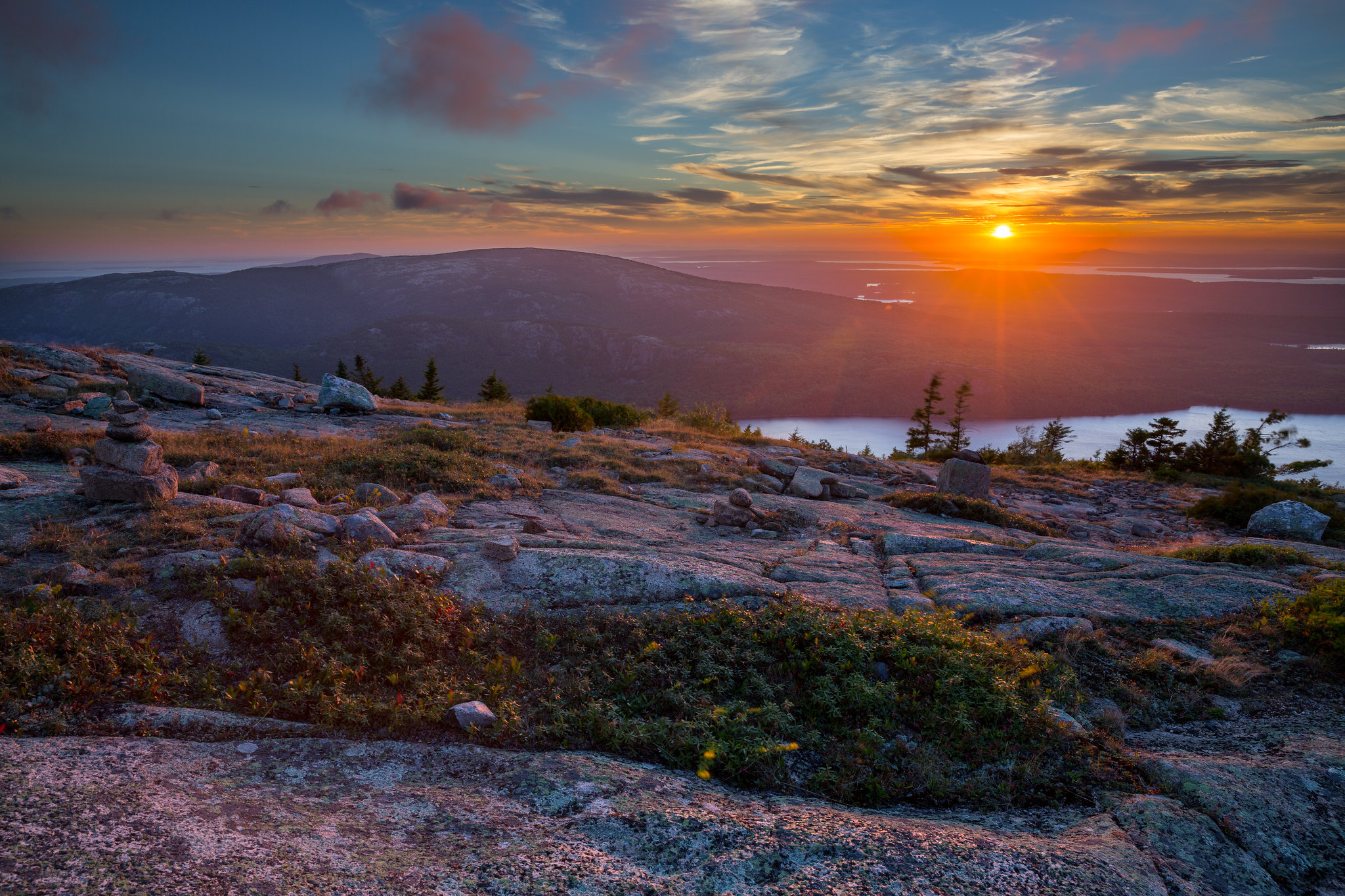 Fall Farm Desktop Wallpaper Sunset At Cadillac Mountain Acadia National Park Maine