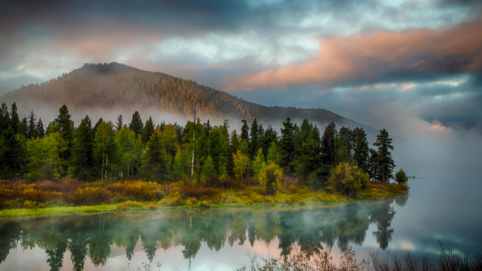 Early Fall Wallpaper Grand Teton National Park Wyoming United States Sunrise