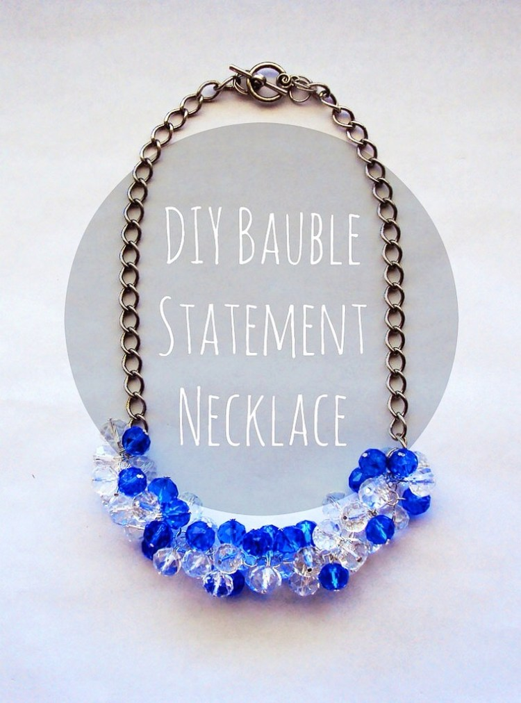 DIY Bauble Statement Necklace with easy step-by-step instructions and photos!