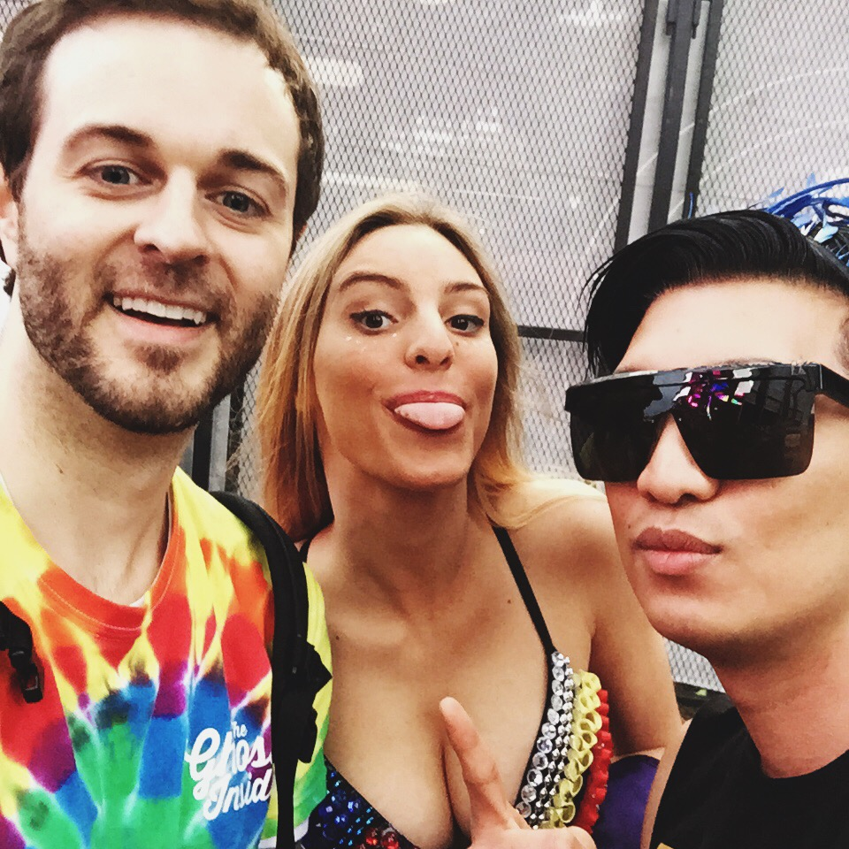 Curtis Lepore, Lele Pons and Bryanboy at Ultra Music Festival Miami 2015