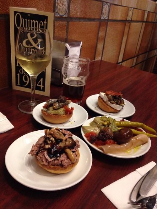Best Tapas Bar in Barcelona Montaditos Tapas from Quimet i Quimet in Barcelona