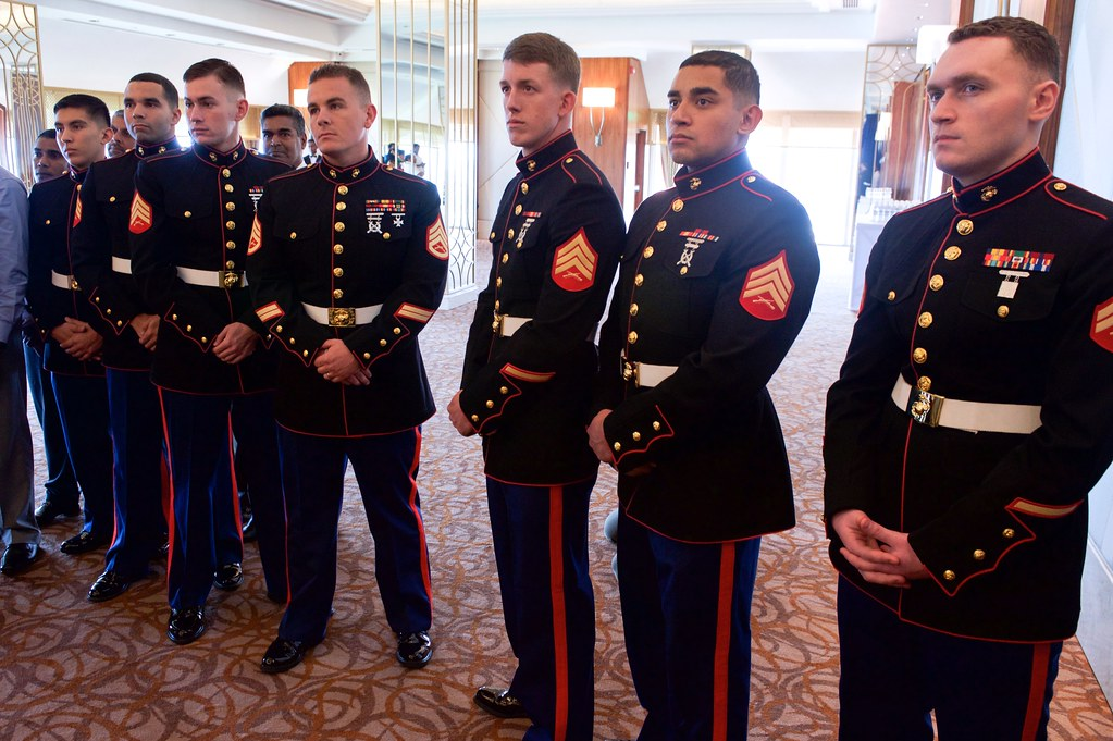 All sizes Marine Security Guard Detachment Members Watch Secretary