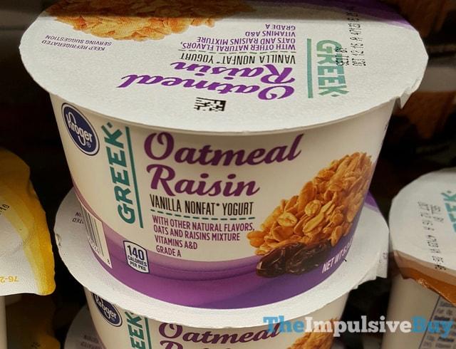 Kroger Oatmeal Raisin Greek Yogurt