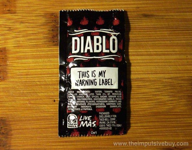 Taco Bell Diablo Sauce 2