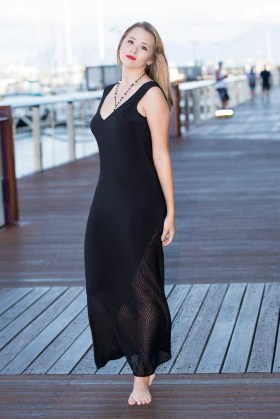 Dolphin Dress   Black and Lace