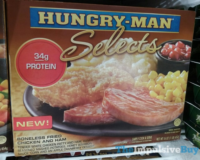Hungry-Man Selects Boneless Fried Chicken and Ham