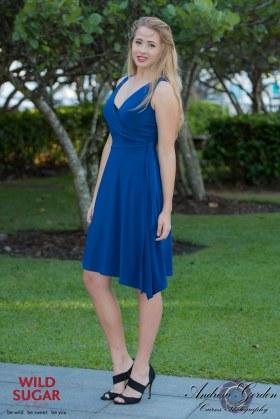 Wrapsody Dress   Cobalt Blue