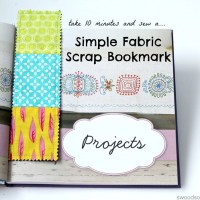 How To Make a Simple Fabric Scrap Bookmark