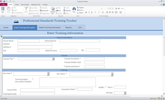 New Training Tracker Tool Now Available to School Nutrition - nutrition tracker