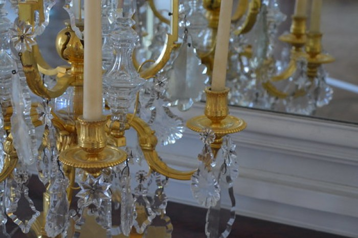 Chandelier & reflection