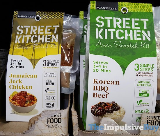 Passage Foods Street Kitchen Jerk Chicken Jamaican Scratch Kit and Korean BBQ Asian Scratch Kit