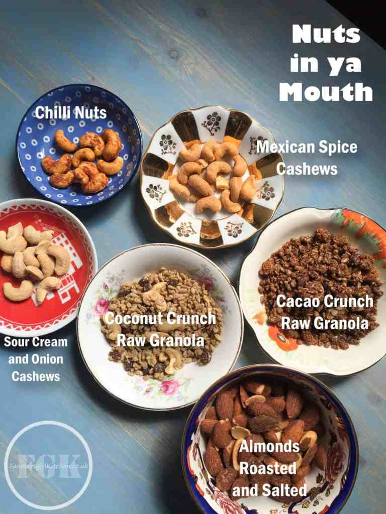 A delicious selection of nuts and granolas from Nuts in ya mouht