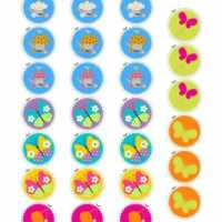 Free Printable Cupcake Toppers - Flowers & Butterflies