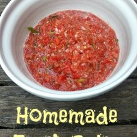Homemade Fresh Salsa Recipe