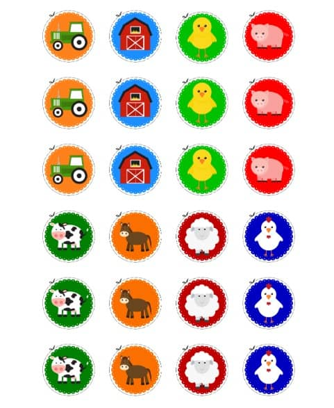 PRINTABLE Farm Animal Cupcake Toppers 2 by GeminiCelebrations - birthday coupon templates free printable