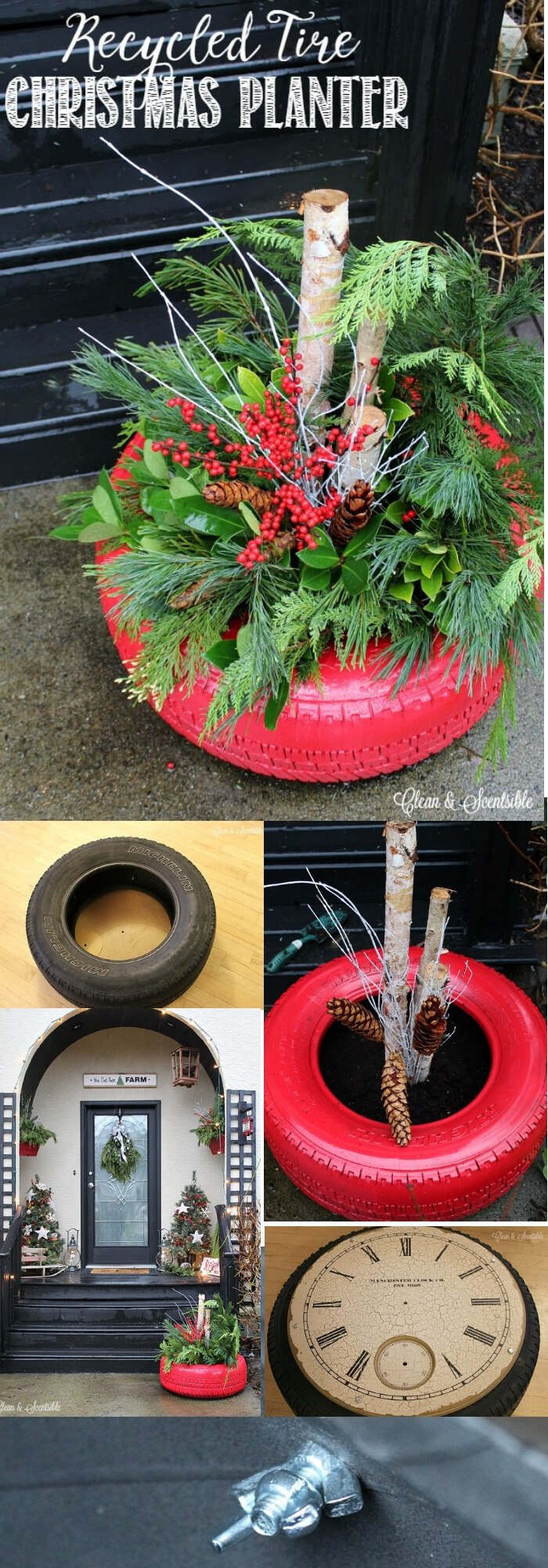 13 Best Recycled Tire Christmas Decoration Ideas For 2021