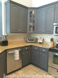 Painting Kitchen Cabinets with General Finishes Milk Paint ...