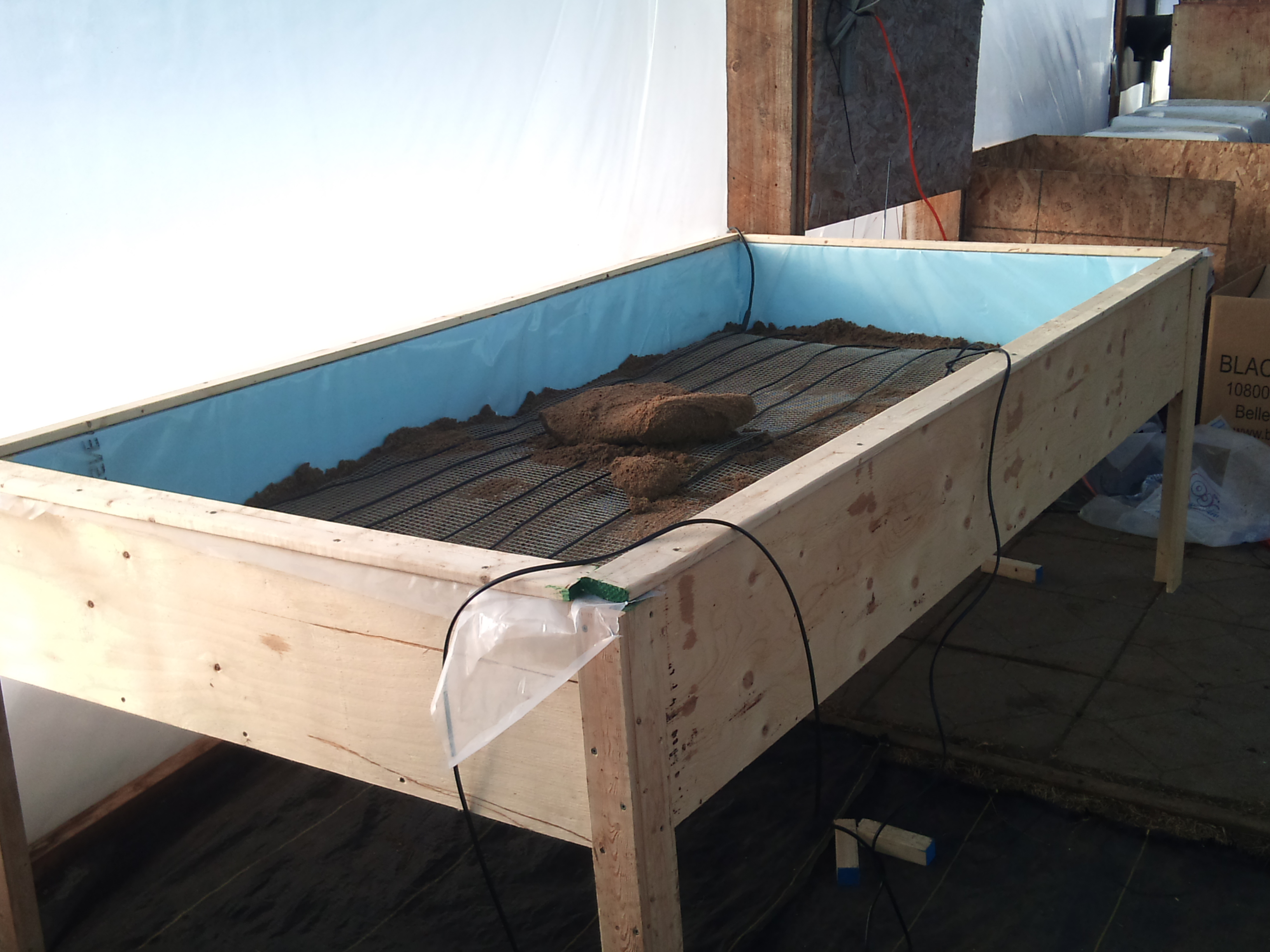 Smart Lights Heated Greenhouse Table | Farm Hack