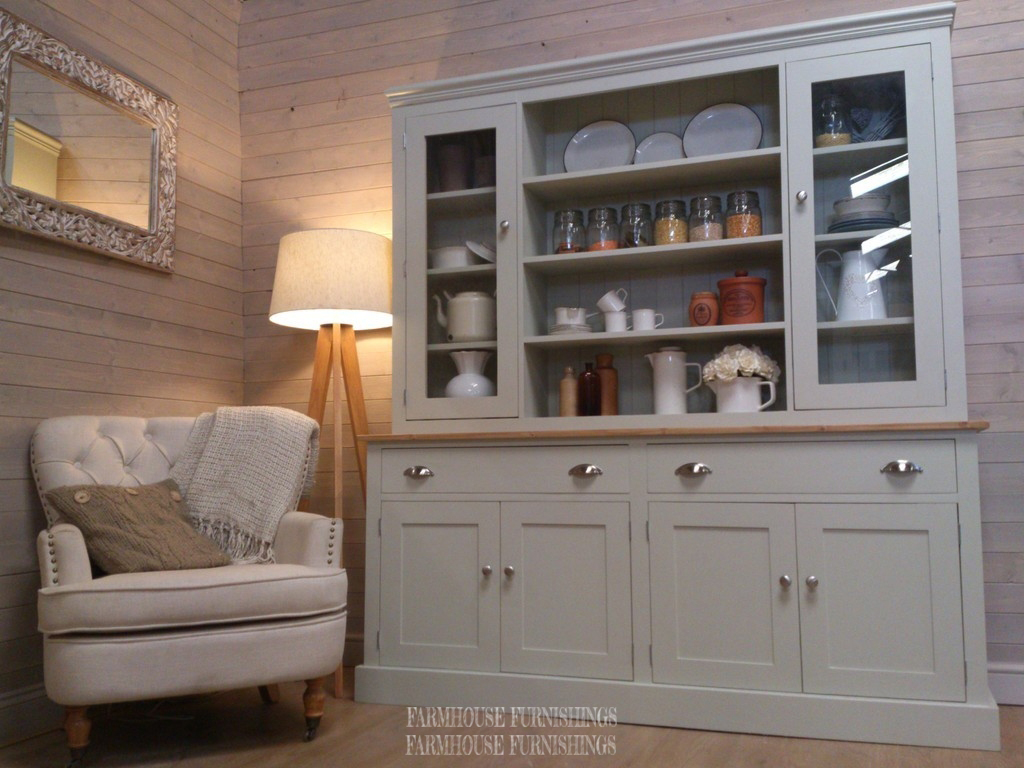 French Doors For Bedroom Hand Made Solid Pine Painted Welsh Dresser - Farmhouse