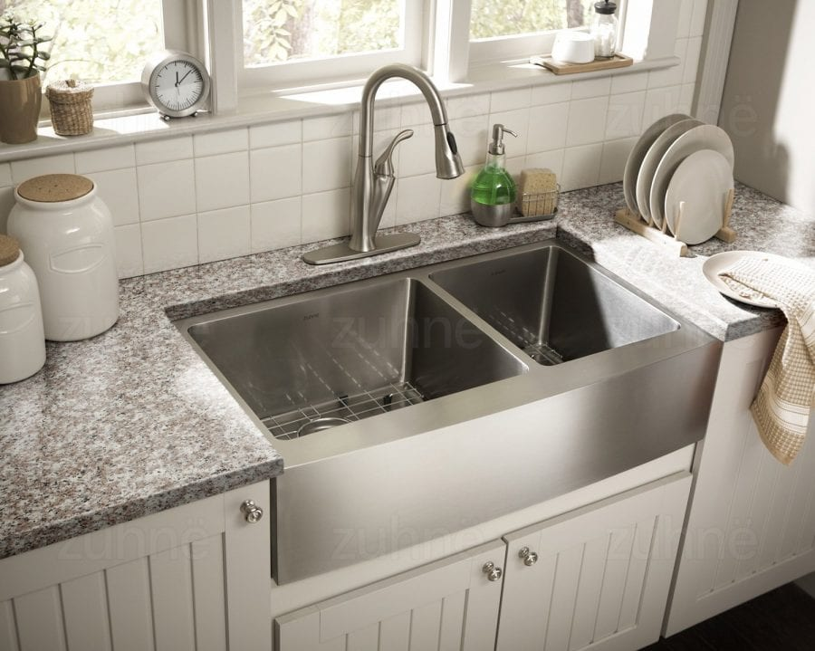 26 Inch Farmhouse Sink Zuhne Farmhouse Deep Double 16 Gauge Stainless Steel